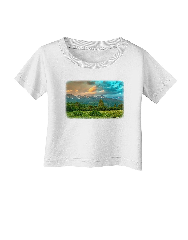 TooLoud Mountain Sunset Infant T-Shirt
