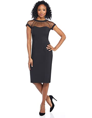 05d5a3feb8 Maggy London Women's Cap-Sleeve Crepe Dress