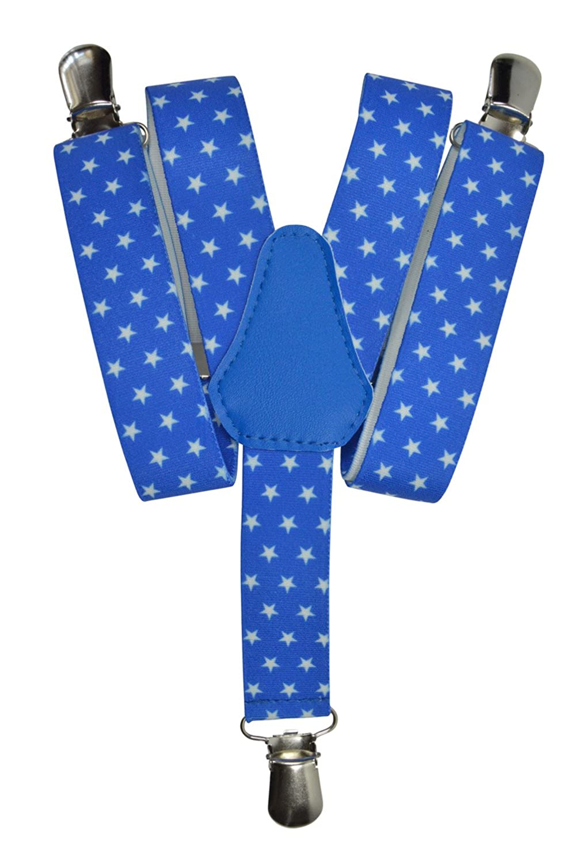 Olata Tirantes 'Y-Forma' para los Niños/Niñas 1-5 años con Estrella Patrón KIDSBRACESJstars-rblue