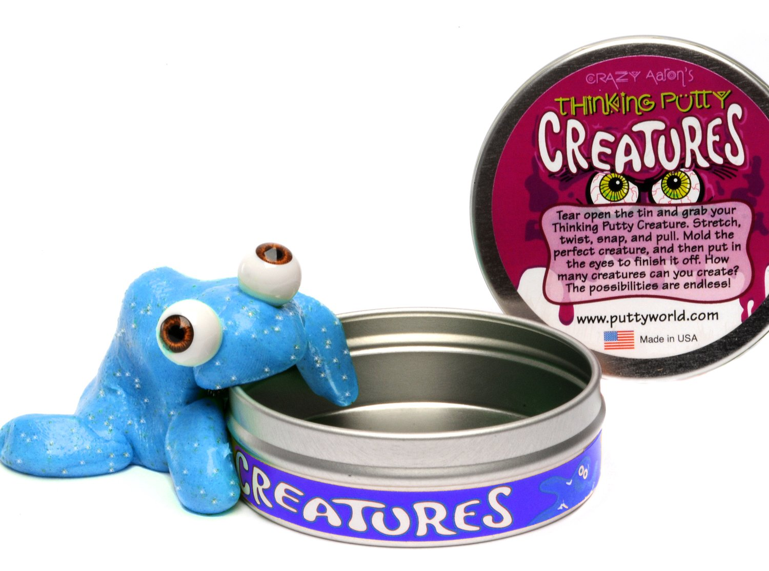 Crazy Aaron's Putty World Creature Blue Putty