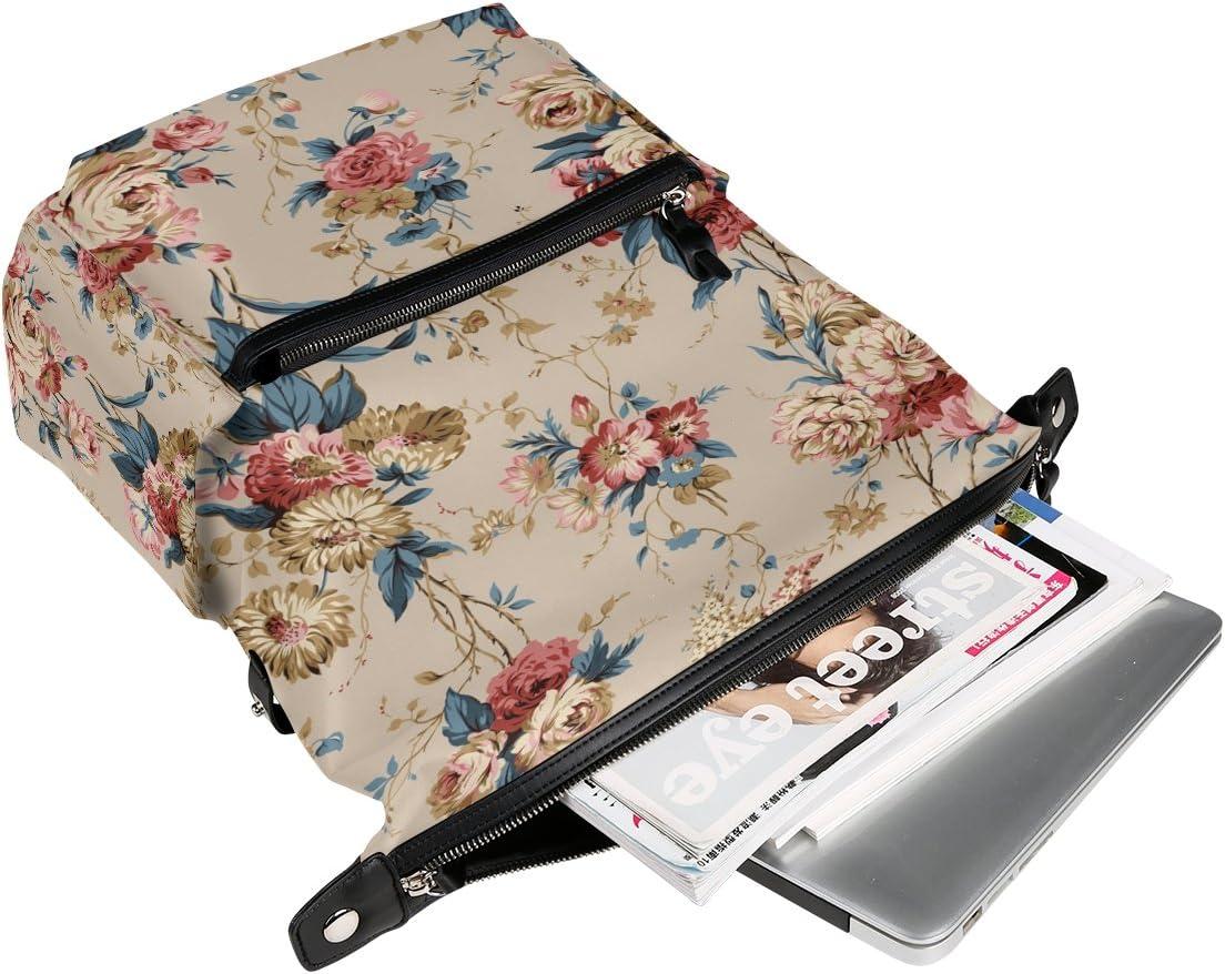 Laptop Backpack Lightweight Waterproof Travel Backpack Double Zipper Design with Hand-Painted British Idyllic Patterns School Bag Laptop Bookbag Daypack for Women Kids