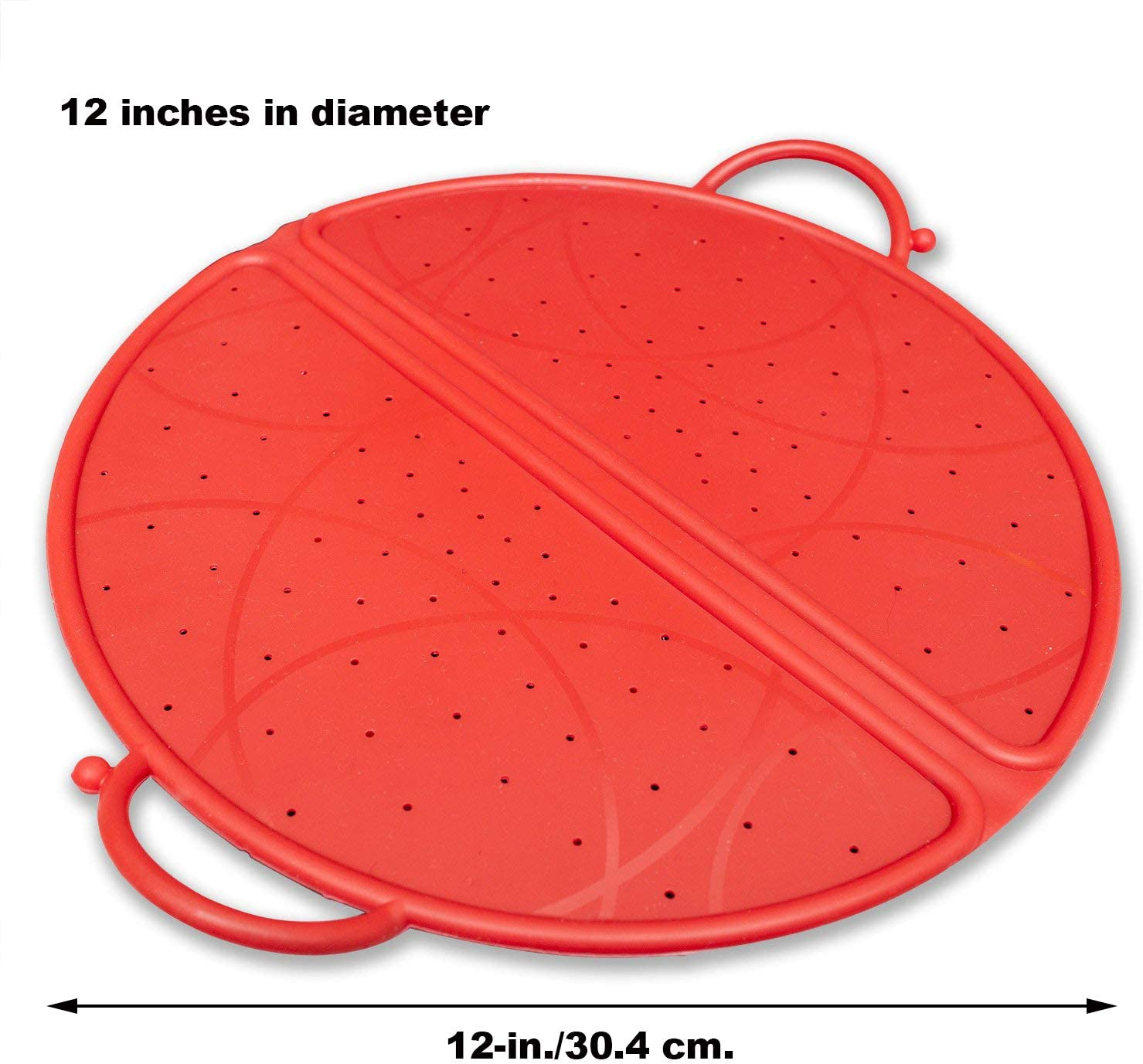 Frying Pan Cover Lid Screen Metal Mesh Prevent Oil Splash With Foldable Handle
