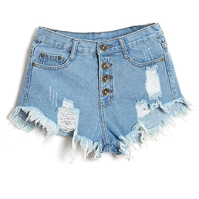 ce81ca1714 Minetom Mujer Verano Pantalones Cortos Vintage Denim Cortocircuitos Calientes  Moda Cintura Alta Shorts  Amazon.es  Ropa y accesorios
