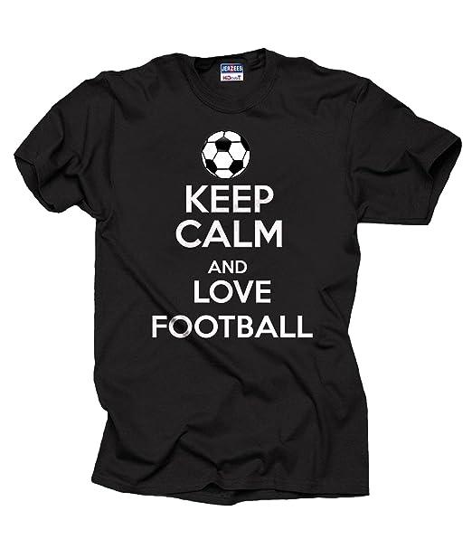 Milky Way Tshirts Camiseta de Fútbol Europeo Masculino Mantenga Camiseta de Fútbol Calma y Amor: Amazon.es: Ropa y accesorios