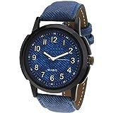 The Shopoholic Analog Blue Dial Blue Leather Belt Watch for Boys Stylish