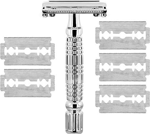 TROP maquinilla de afeitar con 4 cuchillas de repuesto, incluye ...