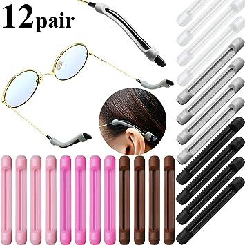 20 Paar Weiche Silikon Brillen Anti Rutsch Ohr Pads Transparent