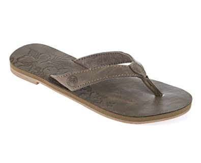 ac3fa3c47713 Urban Beach Womens Ladies Long Island Beach Brown Leather Flip Flops Sandals  (UK 5