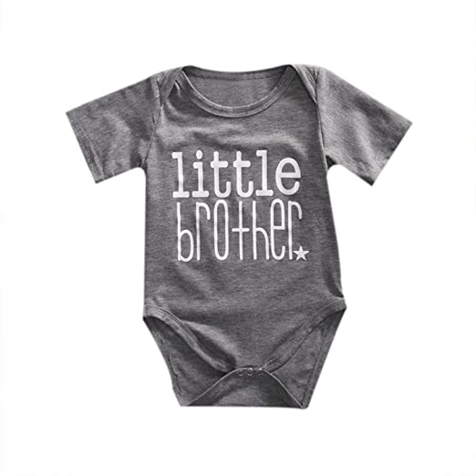 cd299fff940b Image Unavailable. Image not available for. Color  Little Brother Print Onesies  Baby Boys Summer ...