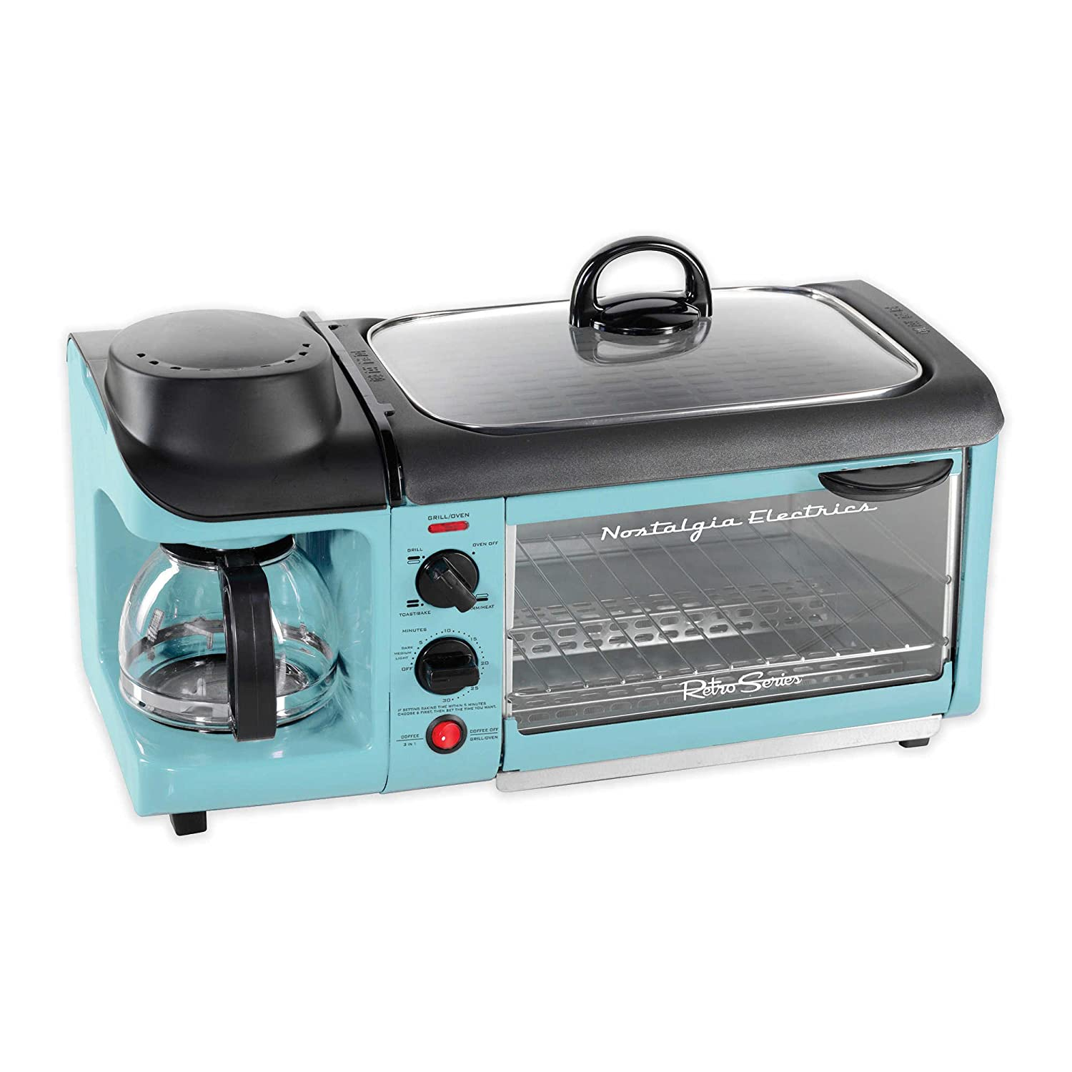 Nostalgia Electrics Retro Series 3-In-1 Breakfast Station in Blue