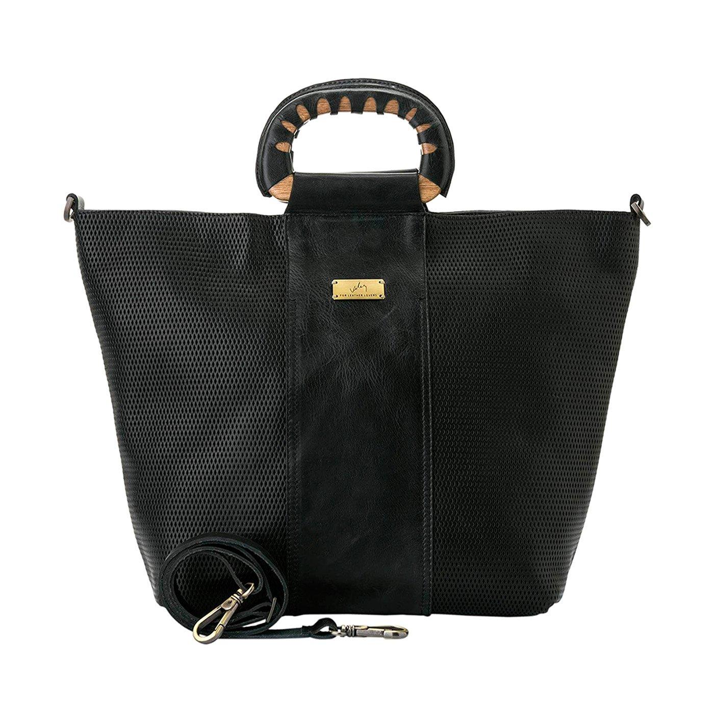 Amazon.com: Velez Womens Beautiful Genuine Colombian Leather Handbags Reusable Tote Shop Bags   Carteras y Bolsos de Cuero Colombiano para Mujeres Black: ...