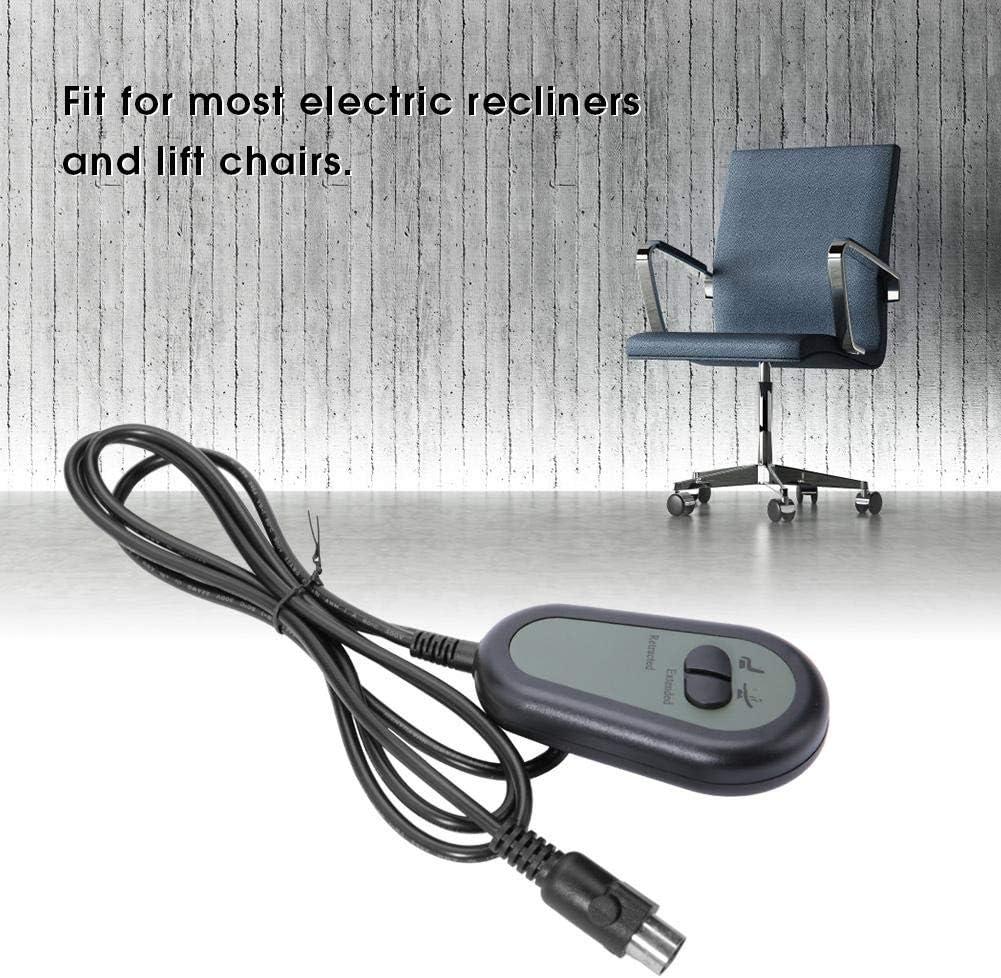 GOZAR 5//8 Broches 3//5 Fils 2 Bouton /Électrique Inclinable Chaise Interrupteur /À T/él/écommande-1
