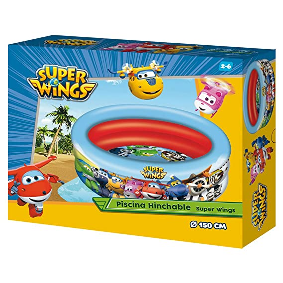 Amazon.com: Super Wings – Swimming Pool with 3 Rings ...