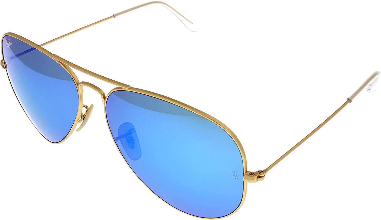 ray ban aviator sunglasses blue lens