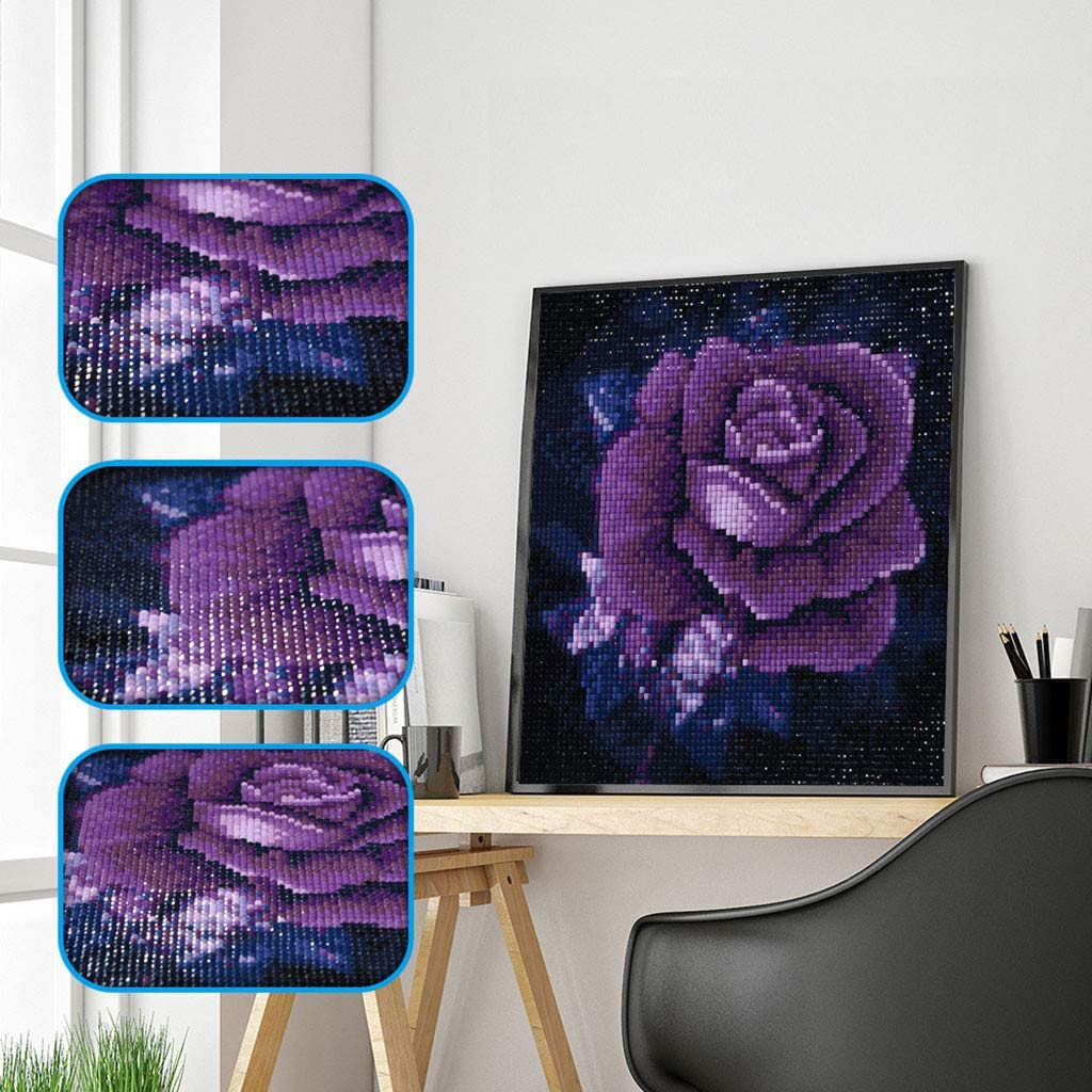 Onefa 5D DIY Diamond Painting,by Number Kits Crafts /& Sewing Cross Stitch,Wall Stickers for Living Room Decoration
