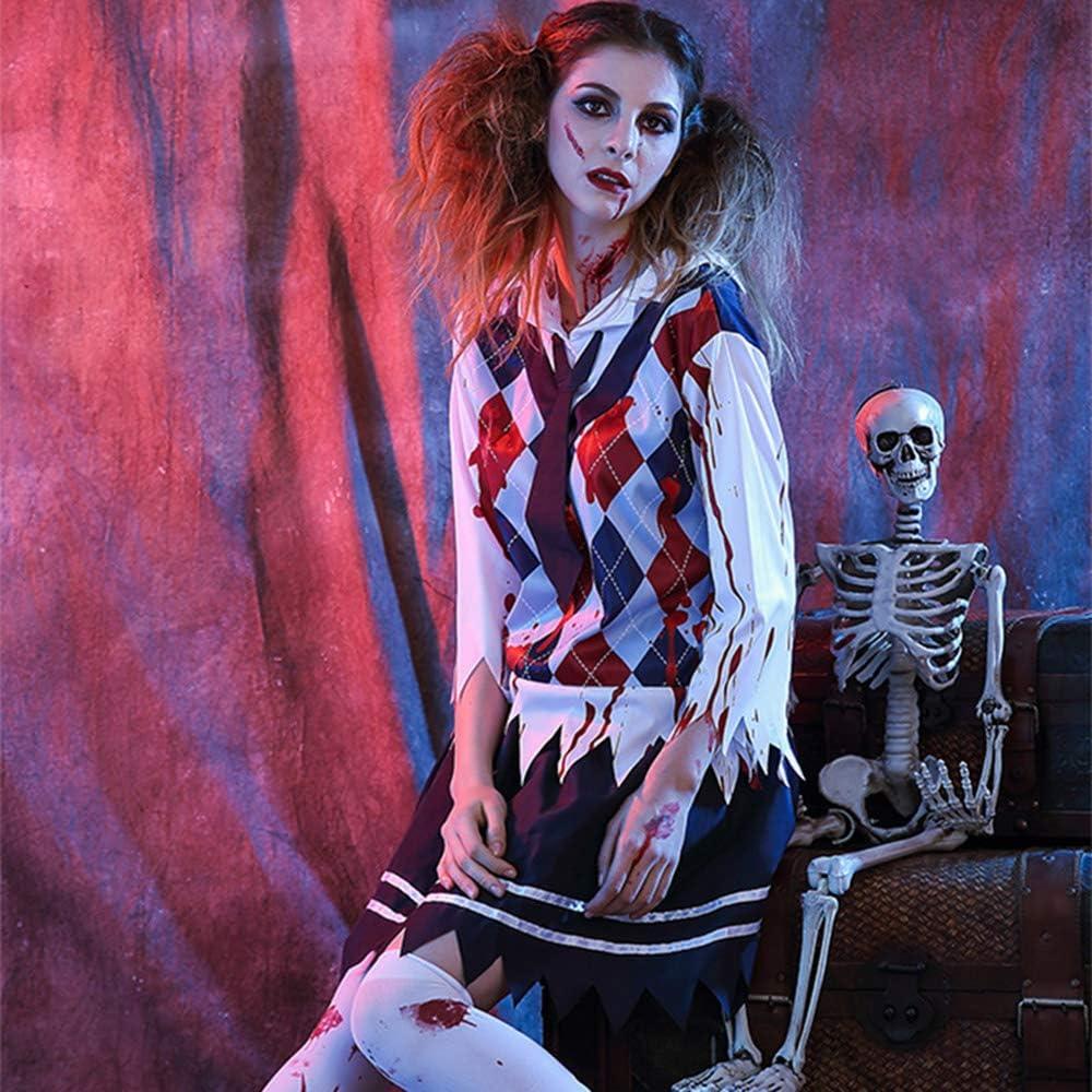 WANLN Disfraz de Zombie de niña de Secundaria para Mujer Disfraz ...