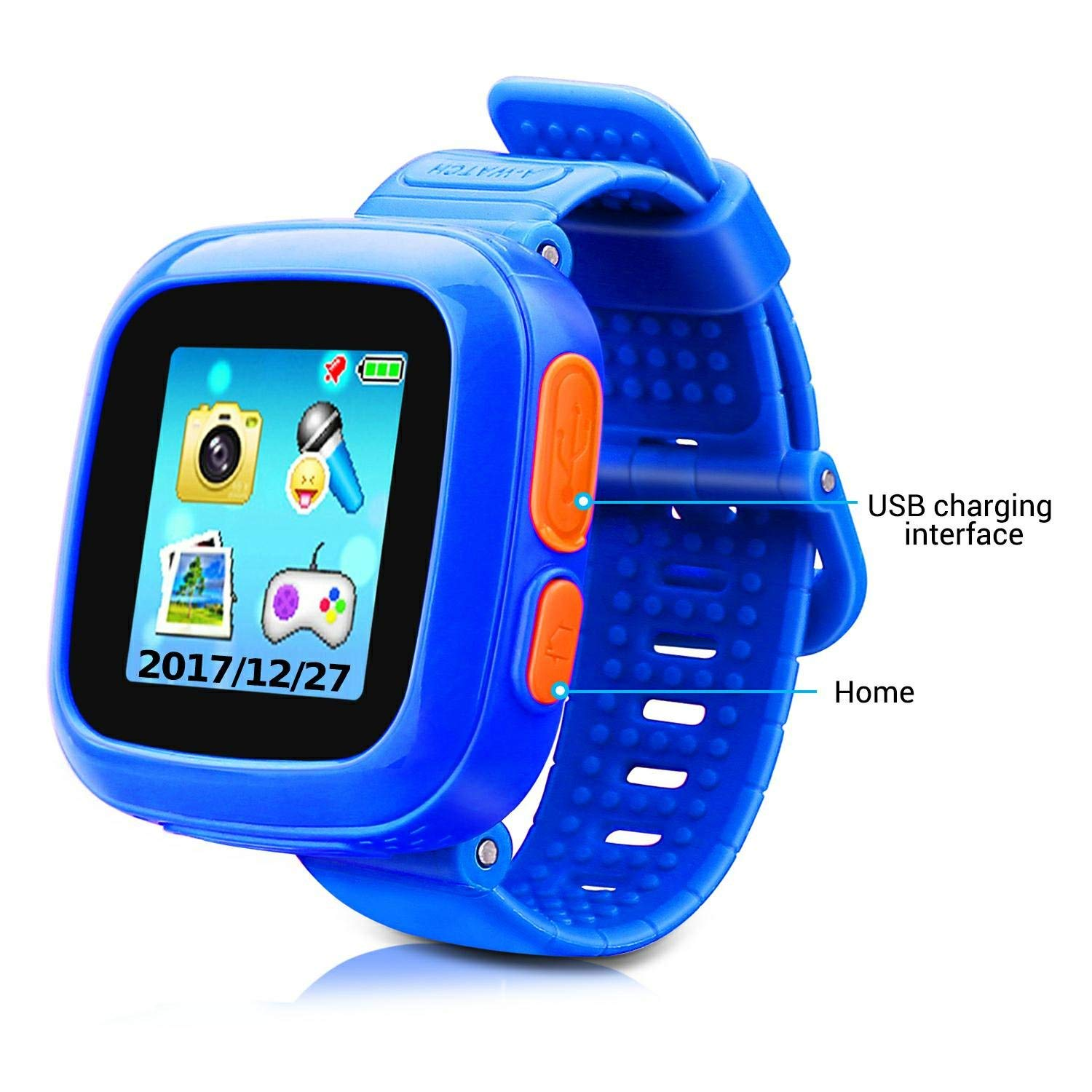 Kids Smart Watch Game Smartwatch with Mini Camera Alarm Clock Timer Health Monitor Pedometer Photo Sticker Learning Toys for Boys and Girls Age 3-12 ...