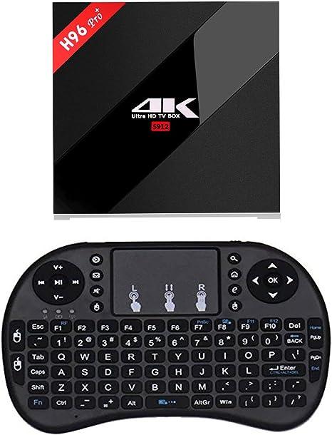 Pinwheel [H96 Pro+ TV Caja y MINI Teclado] 3GB/32GB Android 6.0 Reproductor Multimedia Amlogic S912