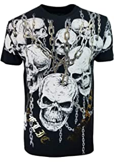 6d1ded3b Konflic Men's MMA Style All-Over Graphic Crew Neck Muscle T-Shirt 100%