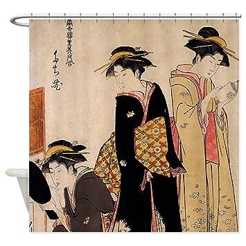 Amazon CafePress Geishas Decorative Fabric Shower Curtain 69