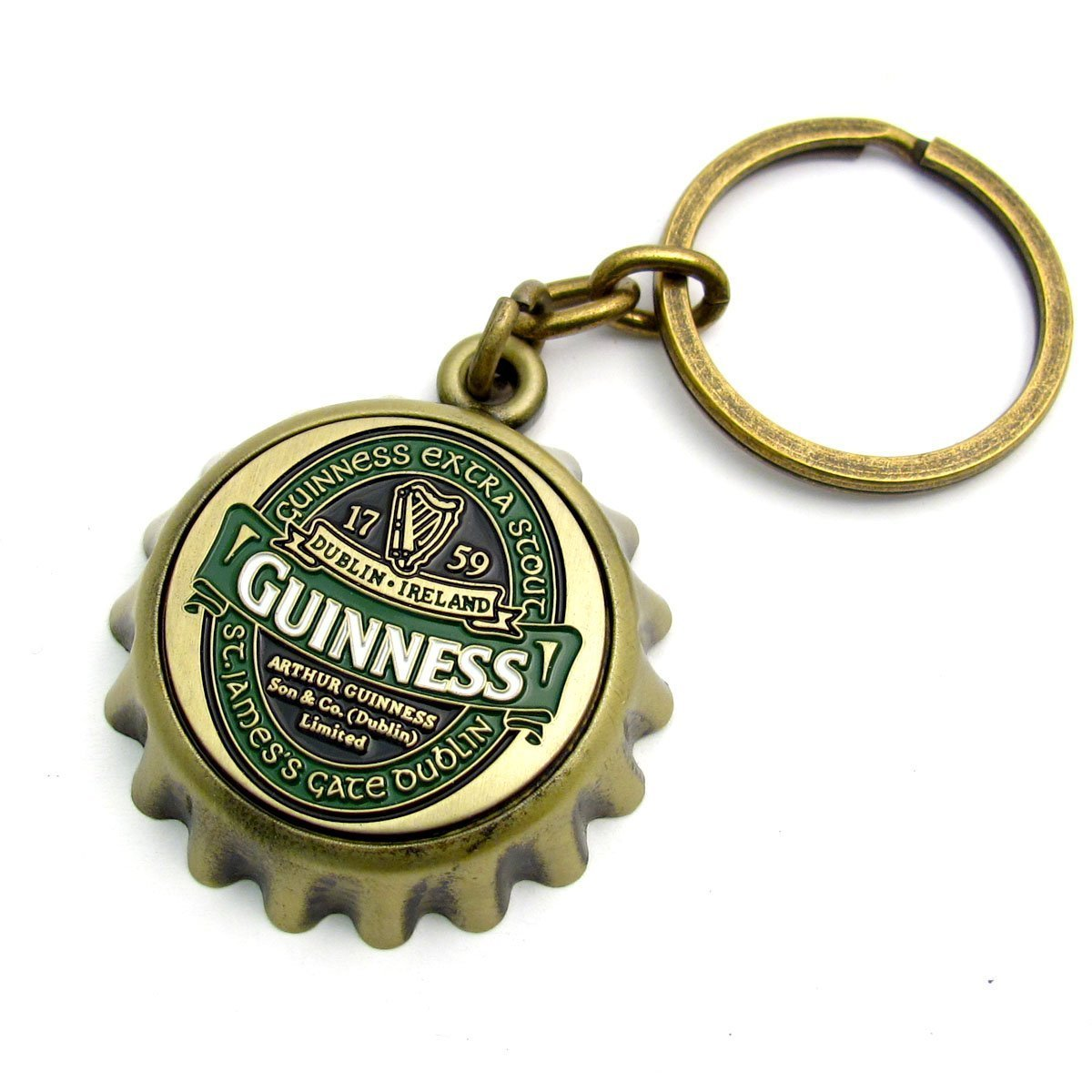 Bottlecap Keychain with St. James Gate Design - Guinness Ireland Collection COMINHKPR110968