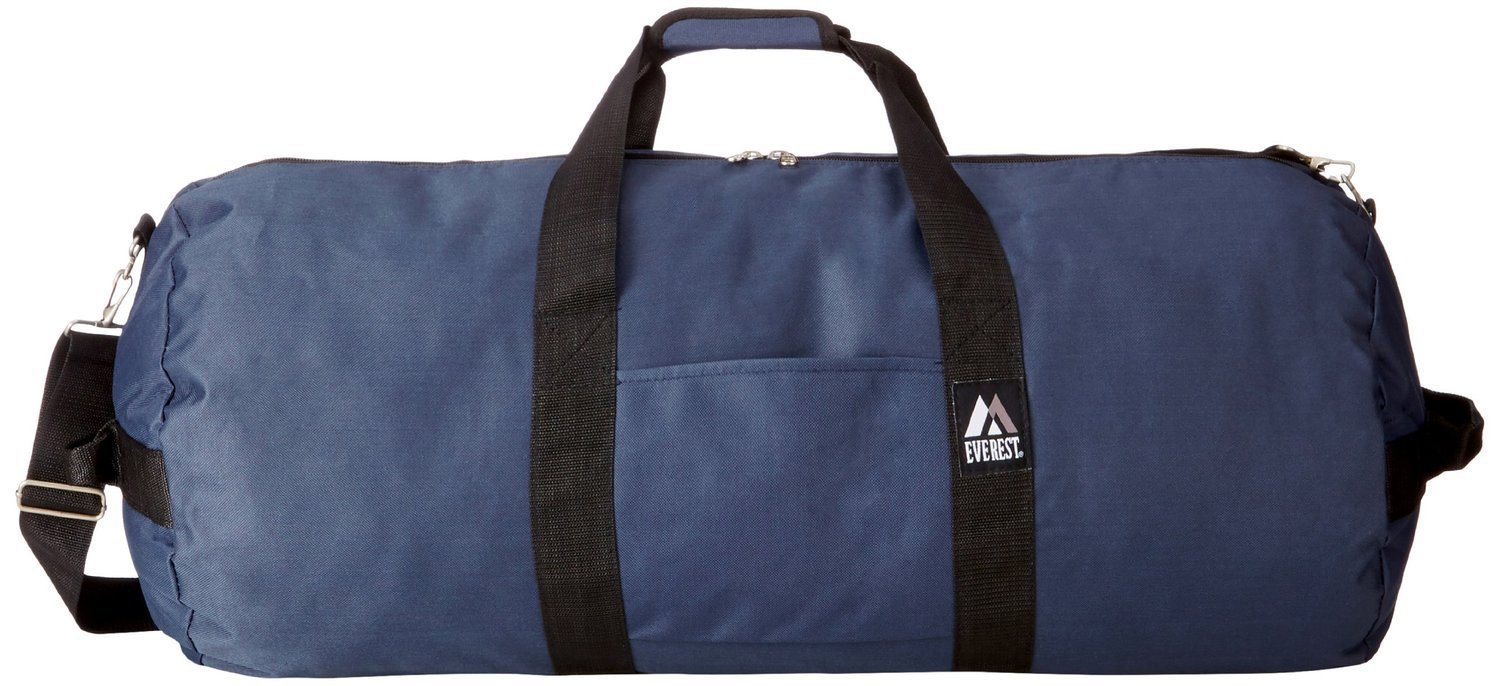 20 Pieces Case Pack Everest 30-Inch Round Duffel Bags (One Size, Navy)