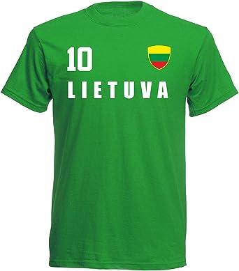 Aprom-Sports Camiseta de fútbol de Lituania Mundial 2018, Camiseta de fútbol Soccer – Verde ALL-10 – S, M, L, XL, XXL: Amazon.es: Ropa y accesorios