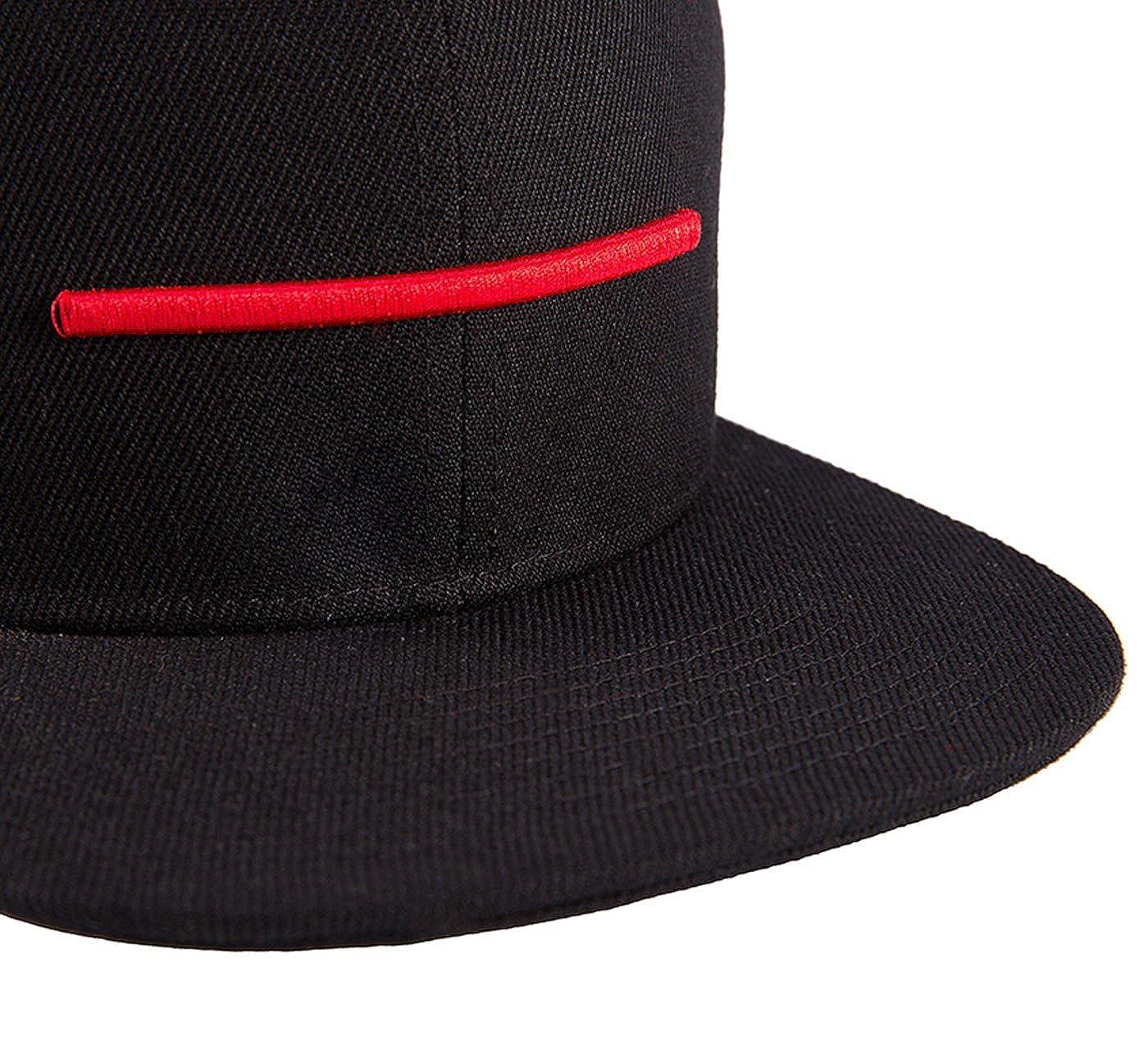 Wuke Snapback Gorra de Beisbol Hombre Cl á sico con Pico Plano Rojo ... 96f10e948bf