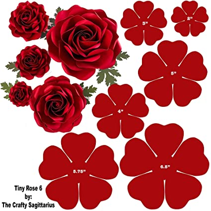 Tiny Rose 6 2 6 Baby Roses Paper Flower Templates