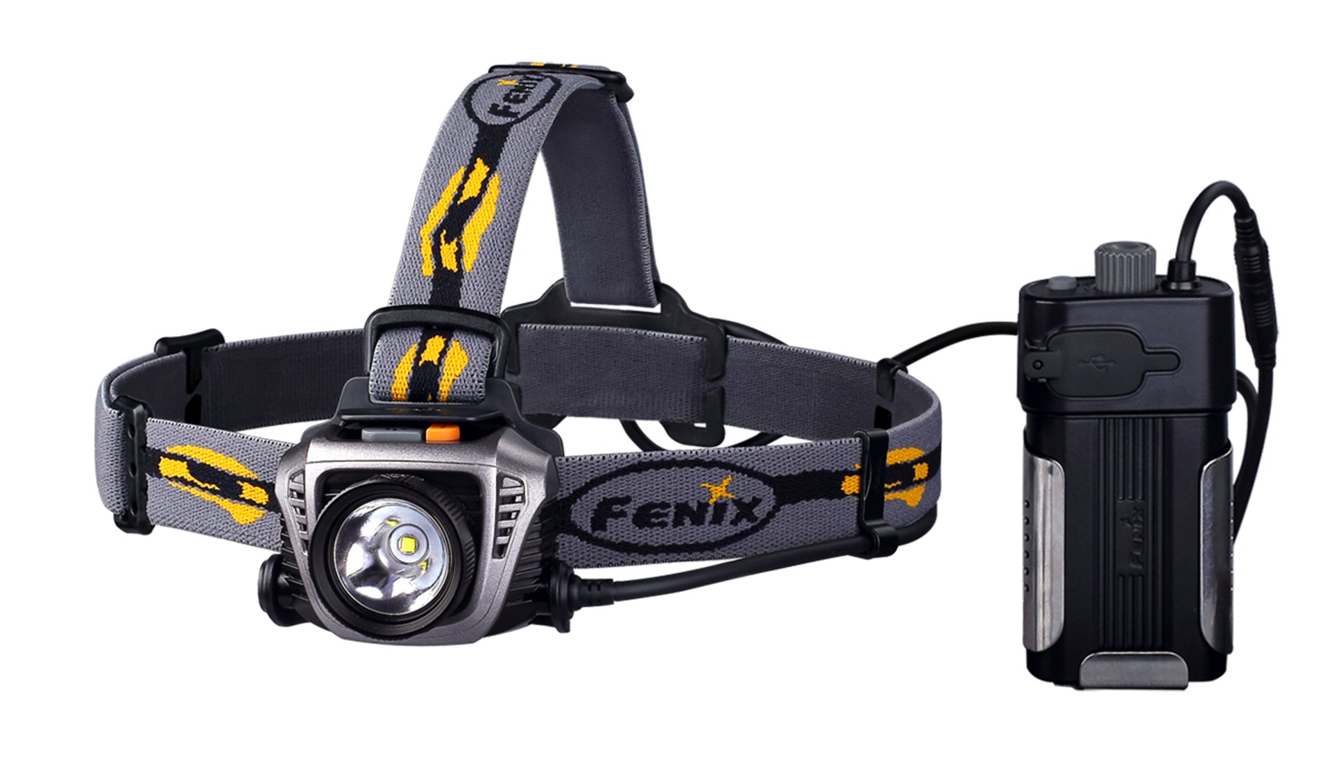 Fenix Flashlights HP30 900-Lumen Headlamp, Grey