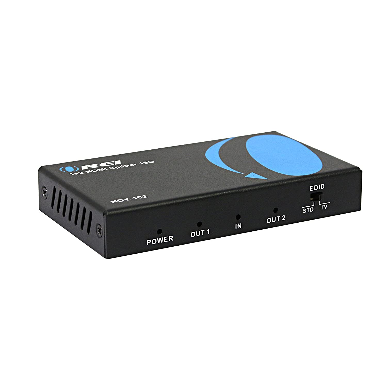 OREI 1x4 2.0 HDMI Splitter 4 Ports with Full Ultra HDCP 2.2, 4K at 60 Hz & 3D Supports EDID Control-HDY-104