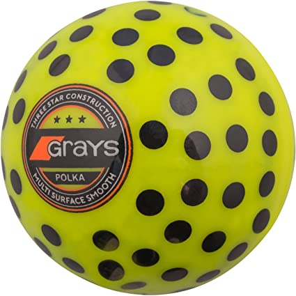 Pelota a lunares, de Grays, color amarillo y negro, tamaño 5.5 oz
