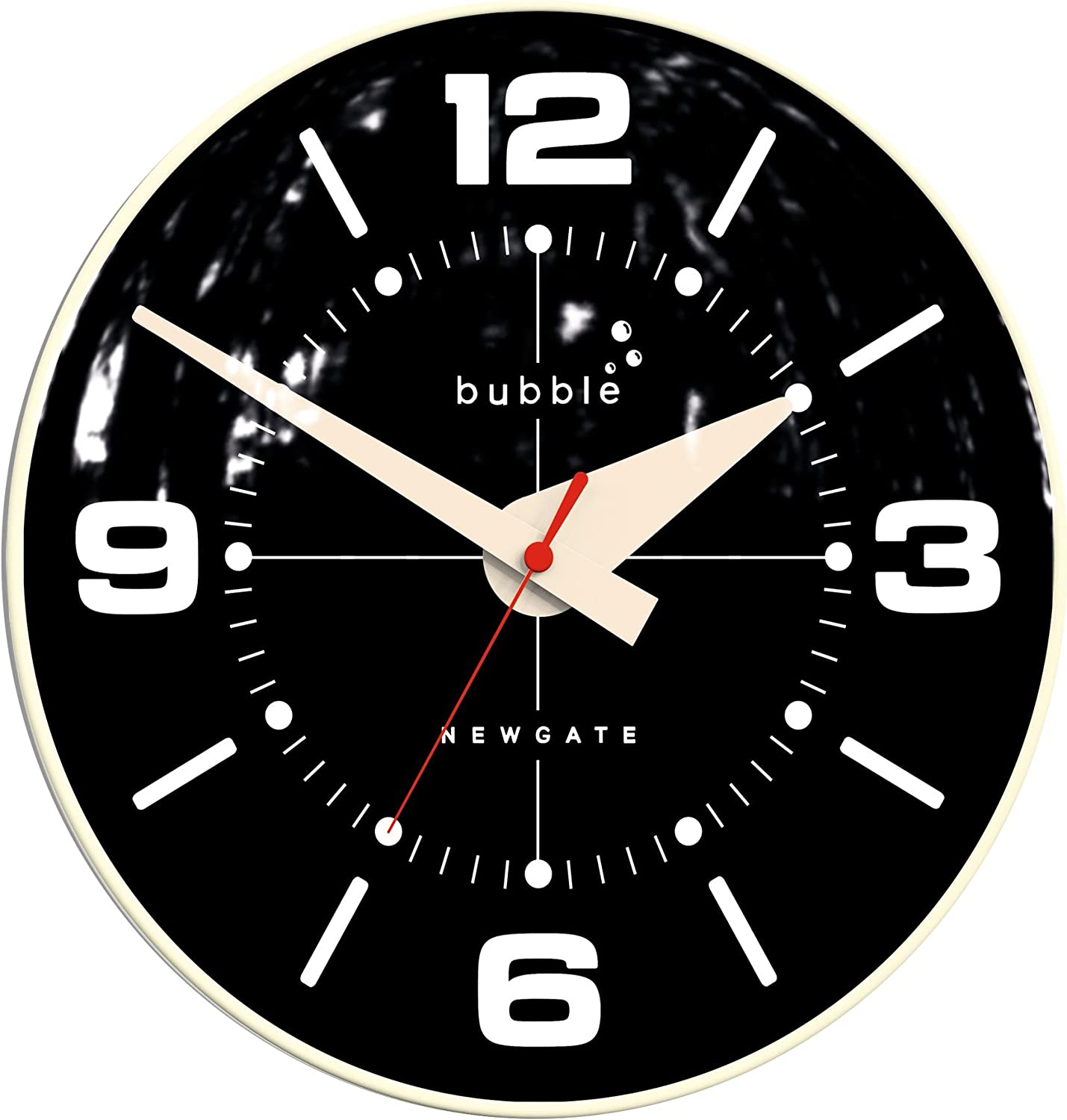 Bubble Wall Clock in Cream