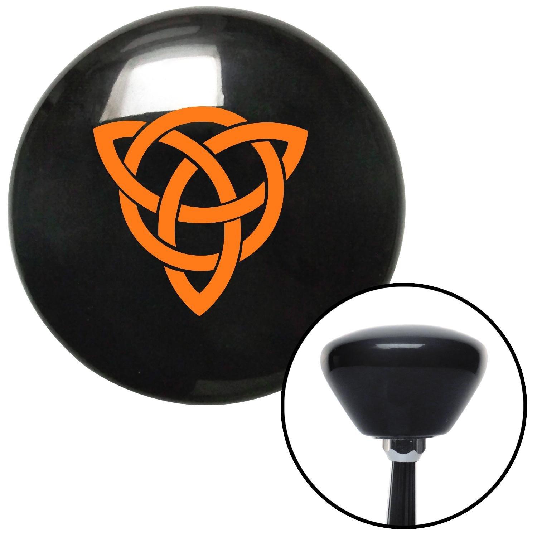 Orange Celtic Design #2 American Shifter 149504 Black Retro Shift Knob with M16 x 1.5 Insert