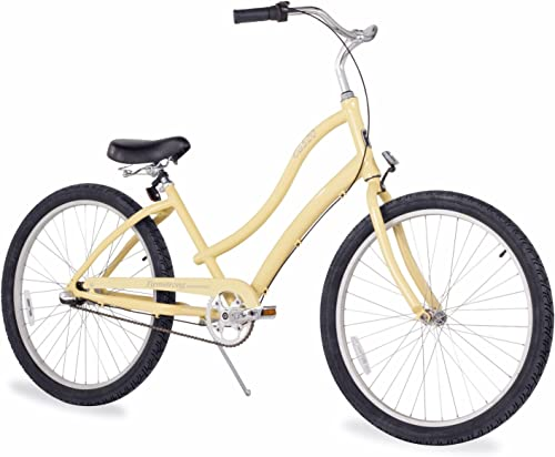Firmstrong Women s CA-520 Alloy Beach Cruiser Bicycle, 15.5-Inch