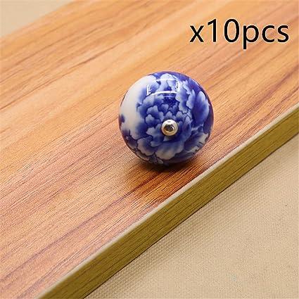 Firstdecor Blue And White Porcelain Knobs Ceramic Door Knobs Kitchen