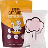 BAG OF FARTS Candy Funny All Ages Unique Birthday Gag Gift Friends, Mom, Dad, Girl, Boy Grandson Granddaughter Stocking Stuffer While Elephant Christmas (Cat Farts Cotton Candy)