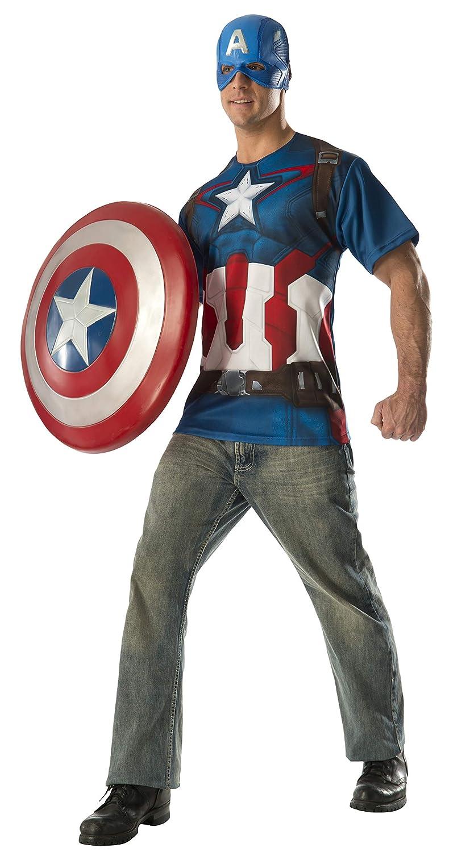 Rubie's Costume Co Men's Avengers 2 Adult Captain America T-Shirt Costume Multi Medium Rubies Costumes - Apparel 810288-M