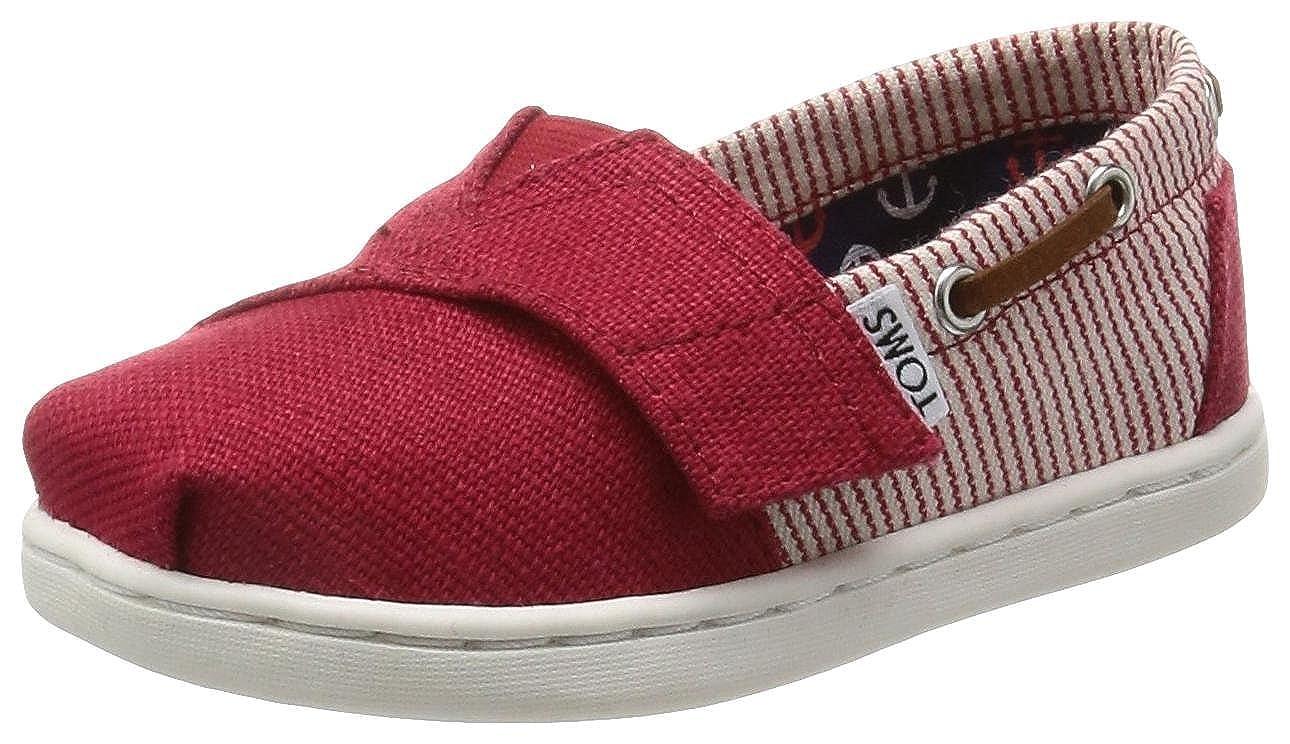 b3f19951cca Amazon.com  TOMS Kids  10007544 Red Stripes Bimini-K  Shoes