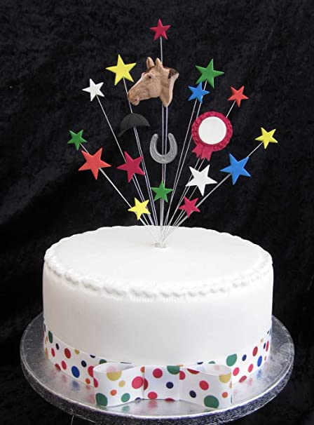 Tremendous Horse Birthday Cake Topper Suitable For A 20Cm Cake Amazon Co Uk Funny Birthday Cards Online Fluifree Goldxyz