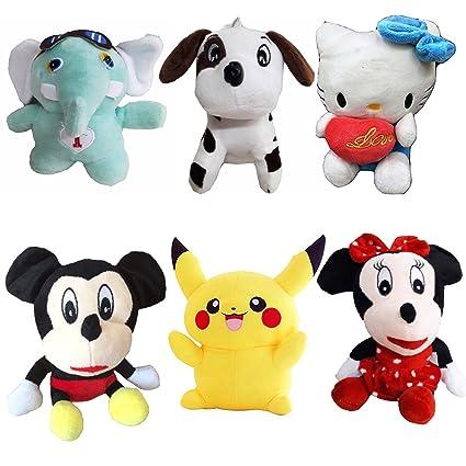 Buy Greenviji Stuffed Soft Toy Kids Birthday Mini Cartoon Toys Combo