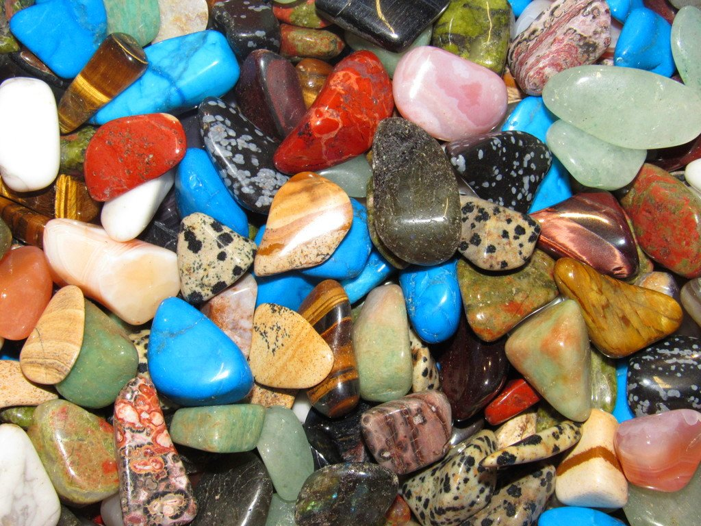 Zentron Crystal Collection: 2 Pounds South Africa Tumbled Mix Stones