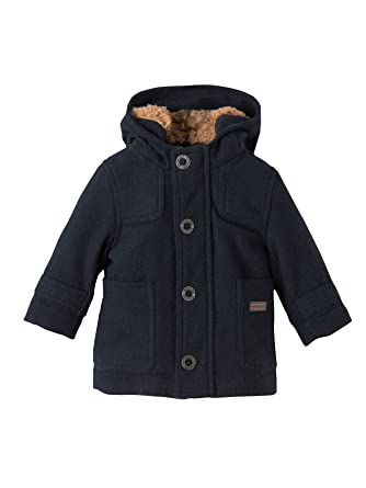 0ce91747cb23d Vertbaudet Baby Boys' Padded Duffle Coat with Warm Lining Blue Dark Solid  ...