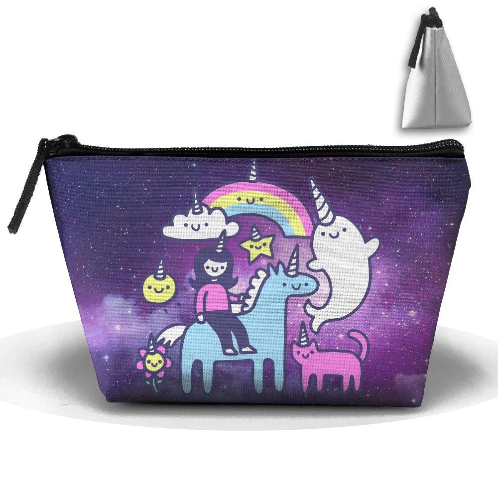 57dae0c748 free shipping Unicorns Everywhere! Cute Trip Toiletry Bag Trapezoidal  Zipper Receive Bag Travel Fashion