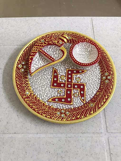 Buy Marble Pooja Thaali Gifting/Return Gifts/Corporate Gift