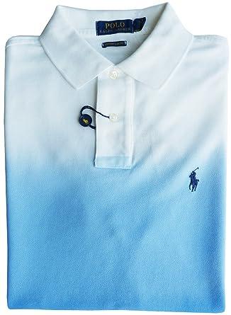 RALPH LAUREN TRICOT POLO TAILLE L, Polo frange, bleu, custom slim ... e2f369f8476d