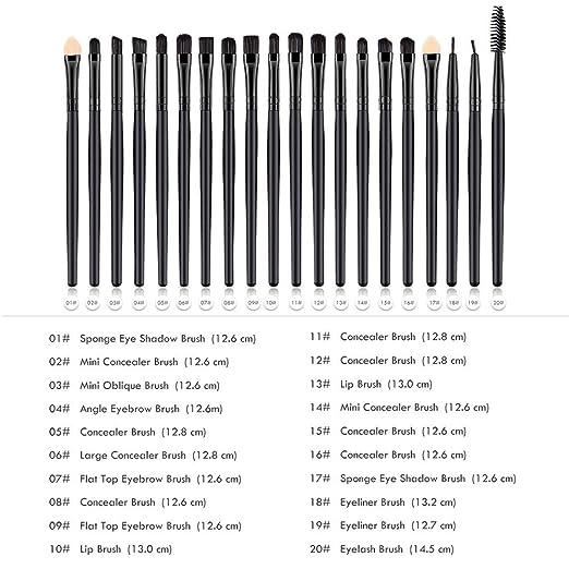 19da69e50fe6 Amazon.com: Ktyssp 20 Pcs Wood Makeup Brush Eye Shadow Brush ...