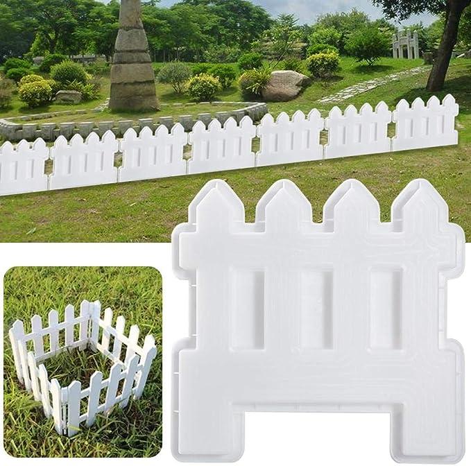 Borde de plástico blanco para césped, cercado de palisado, para jardín, césped, valla decorativa, valla de jardín, exterior, jardín de plantas, decoración: Amazon.es: Bricolaje y herramientas