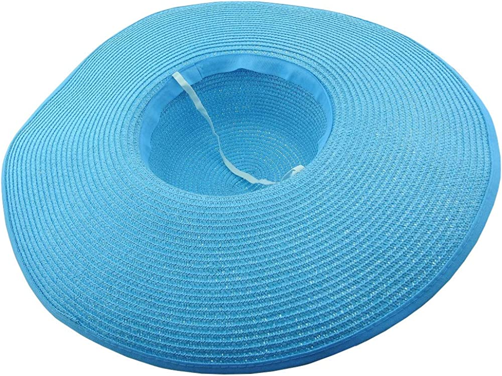 Paglia Estate Colore Turchese Mare Maxi Fiocco Donna Spiaggia Elegante Protezione Solare Inception Pro Infinite Cappello da Sole