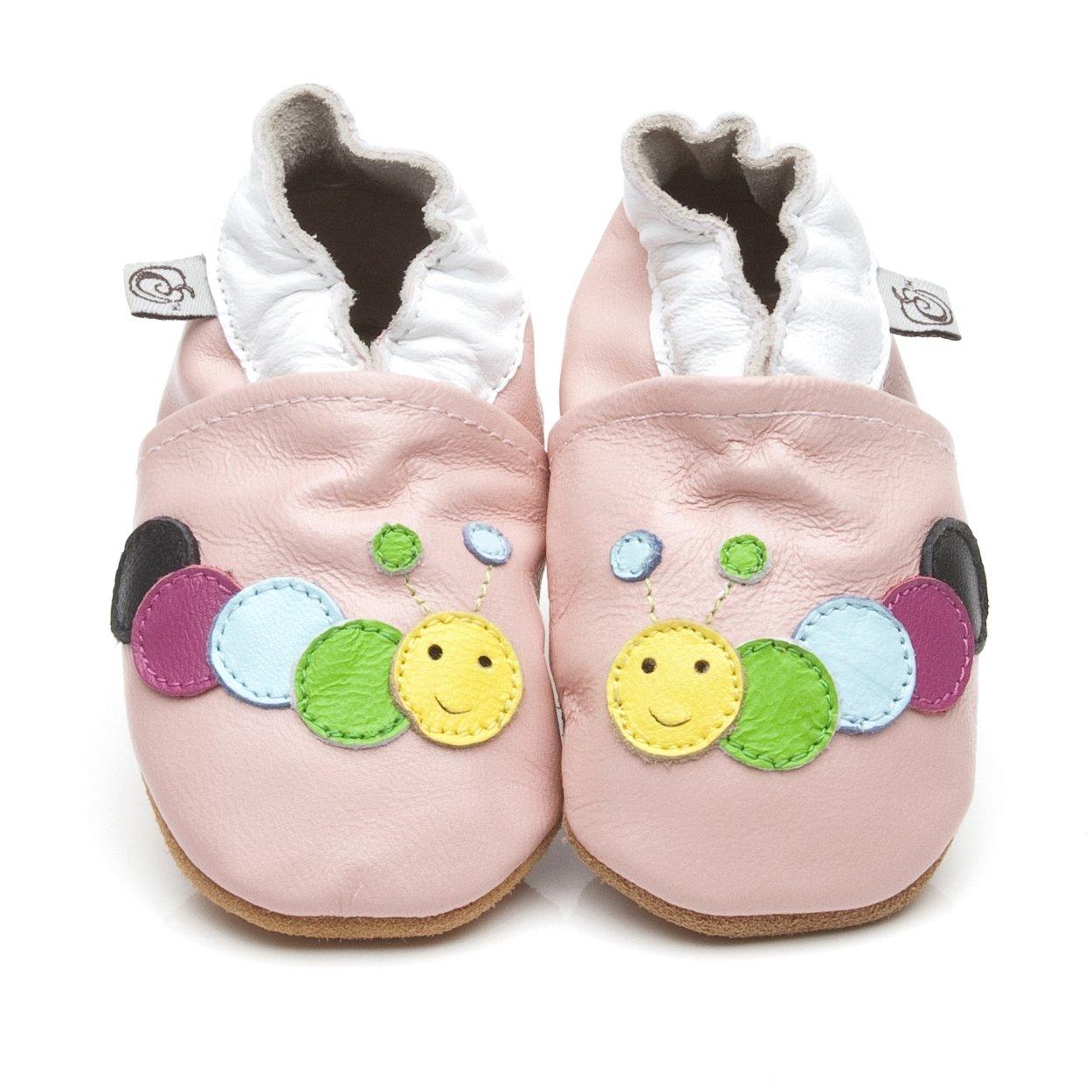 Chaussons Bébé en cuir doux - Chenille Rose - 18/24 mois Cherry Kids